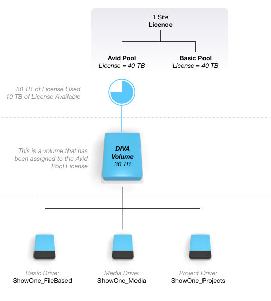 Licenses, Nodes and Volumes