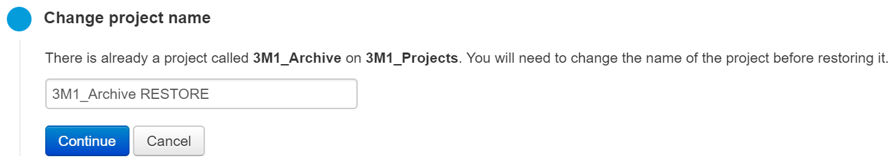 Set the project name